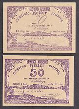 Freinberg (OÖ) -Gemeinde- 20 H und 50 Heller, Druck violett (JP 211 I c)