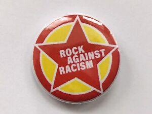 "ROCK AGAINST RACISM BADGE 25MM 1""INCH PUNK POLITICAL SOCIALIST VINTAGE RETRO UK"