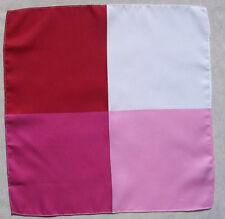 FOUR COLOUR NEW MENS TOP POCKET SQUARE HANKIE HANDKERCHIEF RED WHITE HOT PINK