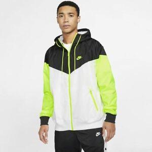 Nike Sportswear Windrunner Hooded Mens Jacket Black Multi Size M Full Zip Top