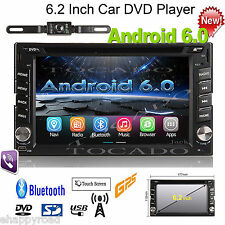 """Android6.0 6.2"""" Car Stereo Radio Double 2 DIN 3G WIFI GPS Navi DVD Player+Camera"""