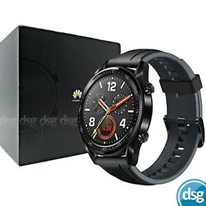 "Huawei Watch GT 1.39"" AMOLED Touchscreen GPS Smartwatch with HR Monitor - Black"