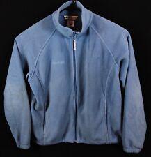 Columbia Women's Benton Springs Full Zip Fleece Jacket Blue Sky Size Large EUC