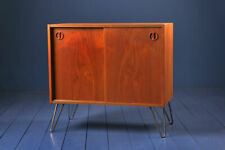 Vintage 1970s  Danish cabinet small sideboard - record storage