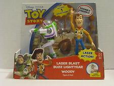 Disney Toy Story Laser Blast Buzz Lightyear & Woody Figure 2-Pack
