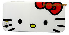 for iphone 5 5s hello kitty black white w/ red bow hard case +screen protector