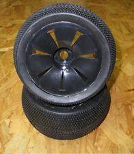 1:8 Truggyreifen / Reifen - Felgen / Tyres Wheels  Black glued  17mm
