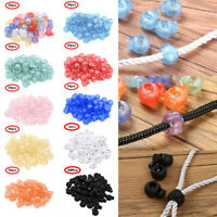 100x Toggle Spring Elastic Rope Cord Locks Clip Ends Stopper Sliding Buttons 2cm