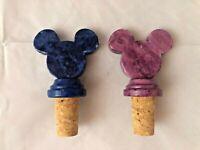 Set of 2 Ducceschi Alabaster Mickey Mouse Wine Corks Disney Epcot World Showcase