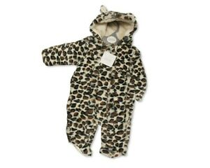 Baby Padded Snowsuit Pramsuit with Leopard Print - 3 Sizes 3-18 Months