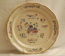 Heartland by International Stoneware Chop Plate Round Platter Farm Scene Japan