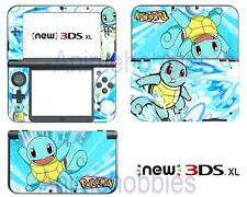 Anime Pokemon Squirtle Vinyl Skin Decals Stickers for Nintendo New 3DS XL 2015