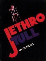 JETHRO TULL 1975 WAR CHILD U.S. TOUR CONCERT PROGRAM BOOK BOOKLET / EX 2 NMT