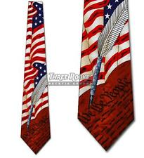 Flag Tie US Constitution Neckties Mens American Flags History Teachers Neck Tie