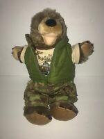 Build A Bear Gopher Plush Brown Groundhog Growl Vest Clothes Camo pants Jeep