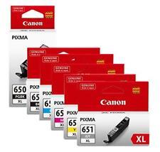 6 x Genuine Canon ink cartridges PGI-650XL & CLI-651XL for MG7160 iP8760 MG6360