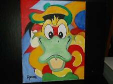Pop Art - Psychedelic Duck by Rodster 11x14 Original oil painting