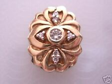 ~Lovely Estate*Diamond*10kt Gold Bracelet Slide Charm!~