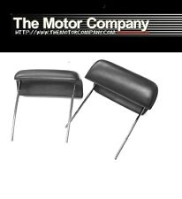 1968 1969 1970 1971 1972 Chevy II Bucket Seat Headrests Black J-3775 (IN STOCK)