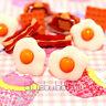 FUNKY BREAKFAST STYLE EARRINGS CUTE FAST FOOD KITSCH RETRO KAWAII SWEET JUNK FUN