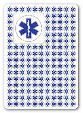 STAR OF LIFE SYMBOL, warning, first aid, health and safety signs, Stickers