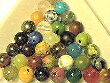6mm Round Mixed Stone Beads (100 pieces) Jasper, Agate, Quartz, Onyx and More