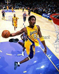 NBA Los Angeles Lakers LA Lakers Kobe Bryant Airborne Color 8 X 10 Photo Pic