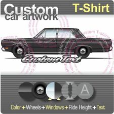 Custom T-shirt 1967 67 1968 68 69 70 71-73 Plymouth Valiant Signet 4-door sedan