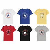 Converse Chuck Short Sleeve Child Tee Shirt Boys Kids Top Lightweight T-Shirt