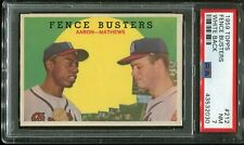 "1959  Topps  Baseball   # 212   Fence Busters   NM   PSA 7 ++ .... ""HIGH END"""