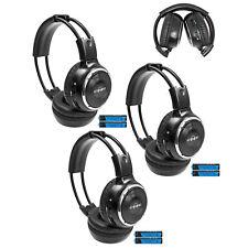 3 Fold In Wireless Infrared DVD Rear Headphones Headset Van Cadillac IR-2008B