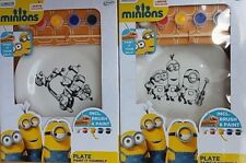 Official Minions Despicable Me Paint Your Own Ceramic Plate Craft Gift