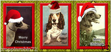 SET OF 9 CHRISTMAS DOGS (48) SCRAPBOOK CARD EMBELLISHMENTS HANG GIFT TAGS