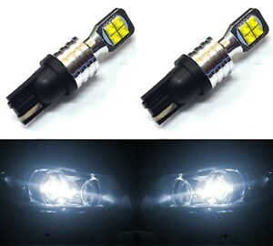 LED Light 40W 194 White 6000K Two Bulbs Front Side Marker Parking Replacement