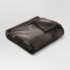 """Threshold Twin Microplush Blanket Incredibly Soft 100% Polyester 66"""" x 90"""""""