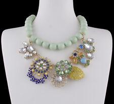 Halskette Collier Perlenkette Statement Kette Strass bunt Trend Design Style WOW