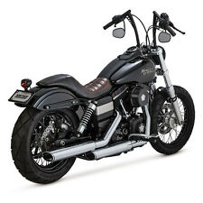 Vance & Hines TWIN ou Slip-ons Chrome, Pour Harley-Davidson Dyna 07-15 TÜV!