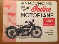 Tin Sign Vintage Indian Motorcycles Announcing The New Indian Motoplane