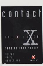X-FILES CONTACT TRADING CARDS PROMO CARD INTREPID AUSTRALIA