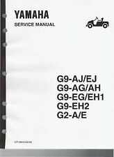 Yamaha Golf Cart G2 G9 Gas & Electric Factory Service Repair Manual CD