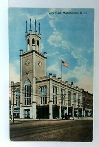 Manchester New Hampshire City Hall Vintage Postcard