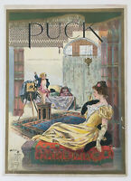 Puck Magazine Cover, December 14, 1898, Illustrated by Harrison Fisher