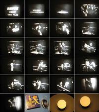 Super 8 mm Film,Revue mit Dick und Doof Boxen sich durch mit Ton-Films