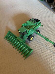 Selection Of Toy John Deere Vehicles - Tractor Trailer Combine Sprayer & Baler