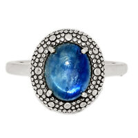 Kyanite - Brazil 925 Sterling Silver Ring Jewelry s.8 BR17816 201E XGB