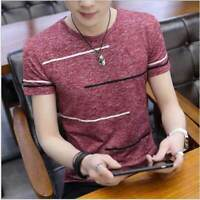 Fit Muscle Casual Summer Tops Bodybuilding Men T Shirt Clothes Slim T-shirt Tee