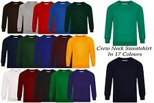 Boys Girls Unisex Crew Round Neck Sweatshirt Jumper School Uniform PE Sports