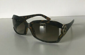 GUCCI sunglasses tortoise shell Gold GG with box