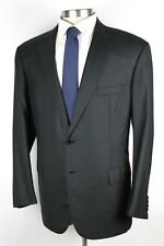 NWT $6500 BRIONI Colosseo Solid Charcoal Grey Super 160's Wool Suit 48 R (58 Eu)