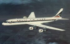 Delta Airlines Airplane DC-8 Fanjet VINTAGE Air Line Issued Postcard